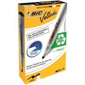 Bic Velleda 1701 Whiteboard Marker Assorted (Pack of 4) 1199001704