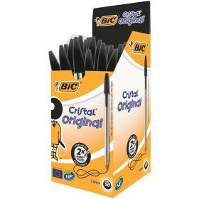 Bic Cristal Ballpoint Pen Medium Black (Pack of 50) 837363