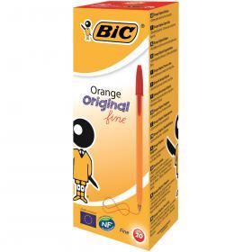 Bic Orange Fine Ballpoint Pen Red (Pack of 20) 1199110112