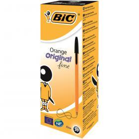 Bic Orange Fine Ballpoint Pen Black (Pack of 20) 1199110114