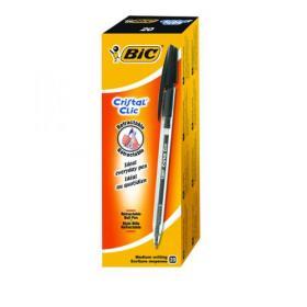 Bic Cristal Clic Ballpoint Pen Medium Black (Pack of 20) 850732