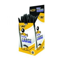 Cheap Stationery Supply of Bic Cristal Large Ballpoint Pen 1.6mm Black (Pack of 50) 880648 Office Statationery