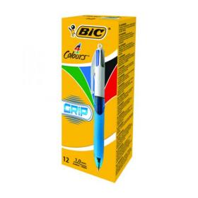 Bic 4 Colours Ballpoint Pen Fine 0.8mm 801868