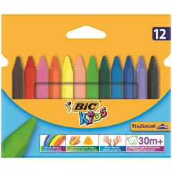 Cheap Stationery Supply of Bic Kids Plastidecor Triangle Crayons Assorted (Pack of 12) 829773 Office Statationery