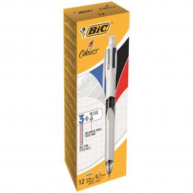 Bic 4 Colours Ballpoint Pen and Mechanical Pencil (Pack of 12) 942104