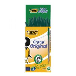 Cheap Stationery Supply of Bic Cristal Ballpoint Pen Medium Green (Pack of 50) 8373629 Office Statationery
