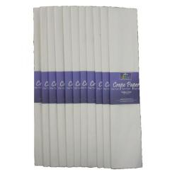 Cheap Stationery Supply of Bright Ideas Crepe Paper 500mm x 3m White BI2572X12 Office Statationery