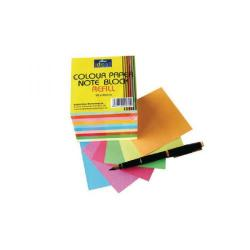 Cheap Stationery Supply of Bright Ideas Note Block Refill 700 Coloured Sheets BI2351 Office Statationery