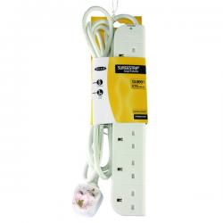 Cheap Stationery Supply of Belkin E-Series SurgeStrip Surge Protector 6-Socket 3m White F9E600UK3M Office Statationery