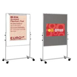 Cheap Stationery Supply of Bi-Office White Portable Duo Board and Flipchart Easel EA4724075 Office Statationery