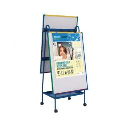 Cheap Stationery Supply of Bi-Office Schoolmate Creation Station Easel and Multivision Drawing Pad EA49145026 Office Statationery