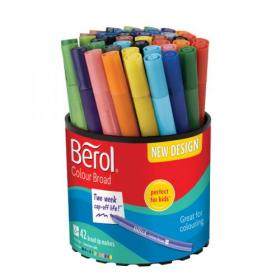 Berol Colourbroad Pen Assorted Water Based Ink (Pack of 42) CBT S0375970