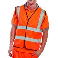 Cheap Stationery Supply of Hi-Viz Vest Orange EN ISO 20471 Large WCENGORL Office Statationery