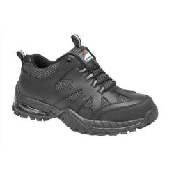 Cheap Stationery Supply of Briggs Proforce Air Bubble Black Leather Safety Trainer Size 8 4041-8 Office Statationery