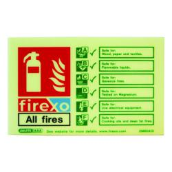 Cheap Stationery Supply of Firexo Fire Extinguisher Sign FX-EXTSIGN Office Statationery