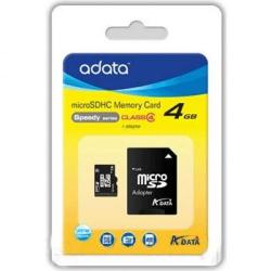 Cheap Stationery Supply of ADATA AUSDH4GCL4-RA1 4GB MicroSDHC Class 4 memory card AUSDH4GCL4RA1 Office Statationery