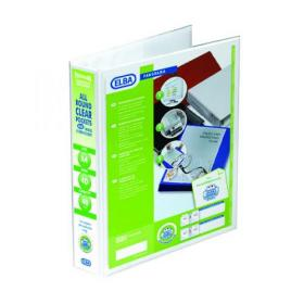Elba Panorama 40mm 4 D-Ring Presentation Binder A4 White (Pack of 10) 400001300
