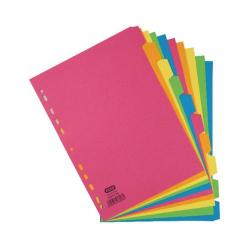 Cheap Stationery Supply of Elba 10-Part Manilla Bright Dividers 160gsm A4 Assorted 400008300 Office Statationery