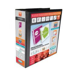 Cheap Stationery Supply of Elba Panorama 65mm 4 D-Ring Presentation Binder A4 Black (Pack of 4) 400008442 Office Statationery