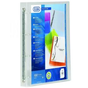 Elba Polyvision A4 Clear Presentation Ring Binder (Pack of 12) 100081049