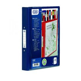 Elba Vision 2 Ring Binder Plastic Coated Board A4 Black 100080886