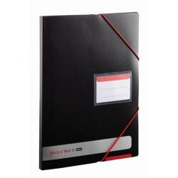 Cheap Stationery Supply of Elba Black n Red Display Book 20 Pocket A4 400050725 Office Statationery