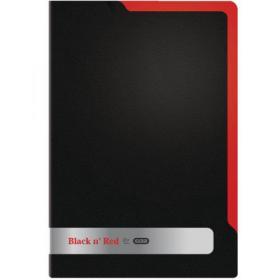 Elba Black n Red Polypropylene L Folder A4 (Pack of 5) 400051533