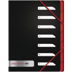 Cheap Stationery Supply of Black n Red 7-Part Folder Polypropylene A4 400051534 Office Statationery