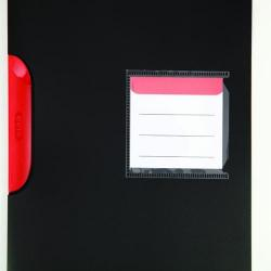 Cheap Stationery Supply of Elba Black n Red Polypropylene Clip File A4  (Pack of 5) 400063613 Office Statationery