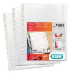Elba Expanding Punched Pockets Top Opening A4 (Pack of 10) 100080753