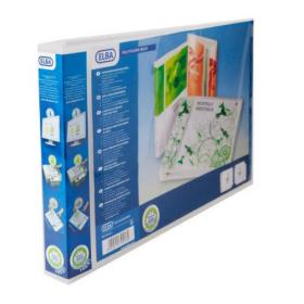 Elba Polyvision A3 Maxi Landscape Clear 30mm 4 D-Ring Presentation Binder (Pack of 5) 100080803