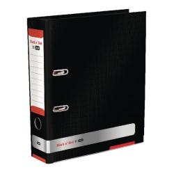 Cheap Stationery Supply of Elba Black n Red 70mm Lever Arch File A4 BOGOF (Pack of 1 + 1) BX810412 Office Statationery