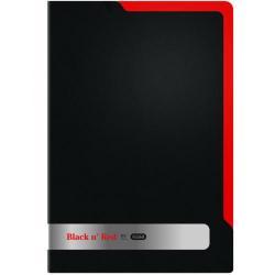Cheap Stationery Supply of Elba Black n Red Polypropylene L Folder A4 (2 Packs of 5) BX810417 Office Statationery