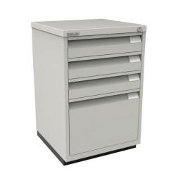 Cheap Stationery Supply of Bisley 3 Plus 1 Filing Cabinet Flush Fronted Goose Grey 1F3EGY Office Statationery