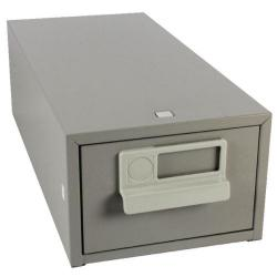 Cheap Stationery Supply of Bisley Card Index Cabinet 5x3 Inches Single Grey FCB13 Office Statationery
