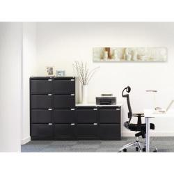 Cheap Stationery Supply of Bisley 2 Drawer Filing Cabinet Flush Fronted Black BS2E BLACK Office Statationery