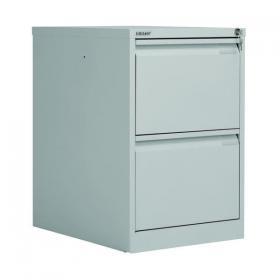 Bisley 2 Drawer Filing Cabinet Lockable 470x622x711mm Goose Grey BS2EGY