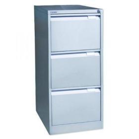 Bisley 3 Drawer Filing Cabinet Flush Fronted Goose Grey BS3EGY