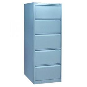 Bisley 5 Drawer Filing Cabinet Flush Fronted Goose Grey BS5EGY
