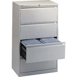 Cheap Stationery Supply of Bisley Side Filing Cabinet 4 Drawer Goose Grey BY01242 Office Statationery