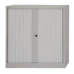 Cheap Stationery Supply of Bisley Side Opening Tambour Cupboard W1000xD470xH1016mm Goose Grey BY01253 Office Statationery