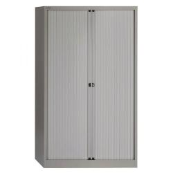 Cheap Stationery Supply of Bisley Side Opening Tambour Cupboard W1000xD470xH1968mm Goose Grey BY01278 Office Statationery