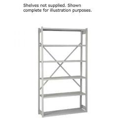 Cheap Stationery Supply of Bisley Shelving Starter Kit W1000xD300mm Grey 1018ESSTK30-AT4 Office Statationery