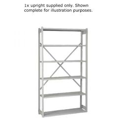 Cheap Stationery Supply of Bisley W1000xD300mm Grey Shelving Extension Kit 1018ESEXK30-AT4 Office Statationery