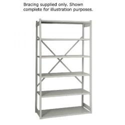 Cheap Stationery Supply of Bisley Shelving Bracing Kit W1000mm Grey 10ESEBK-AT4 Office Statationery
