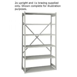 Cheap Stationery Supply of Bisley Shelving Starter Kit W1000xD460mm Grey 1018ESSTK46-AT4 Office Statationery