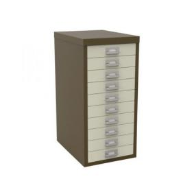 Bisley 10 Drawer A4 Cabinet Coffee/Cream H2910NL-005006