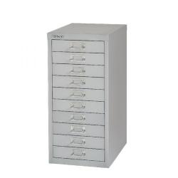 Cheap Stationery Supply of Bisley 10 Drawer A4 Cabinet Grey H2910NL-073 Office Statationery