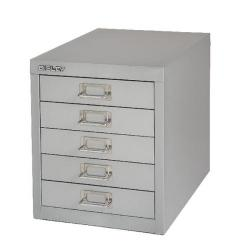 Cheap Stationery Supply of Bisley Non-Locking Multi-Drawer Cabinet 5 Drawer Grey BY42267 Office Statationery