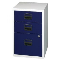 Cheap Stationery Supply of Bisley 3 Drawer Home Filer Grey/Blue PFA3-8748 Office Statationery